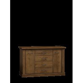 Komoda szeroka do salonu NIKA 142 cm w kolorze jesion jasny