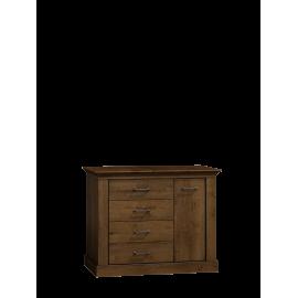 Komoda do salonu NIKA 114 cm w kolorze jesion jasny