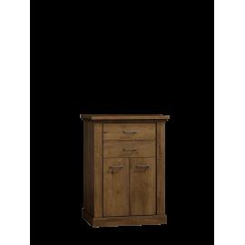 Komoda wysoka do salonu NIKA 82 cm w kolorze jesion jasny