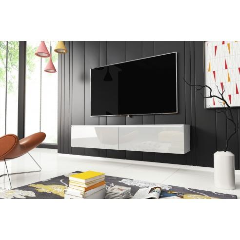 Szafka pod telewizor biały połysk