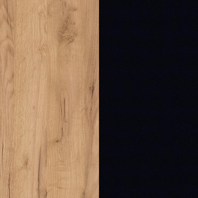 Dąb craft złoty/czarny mat